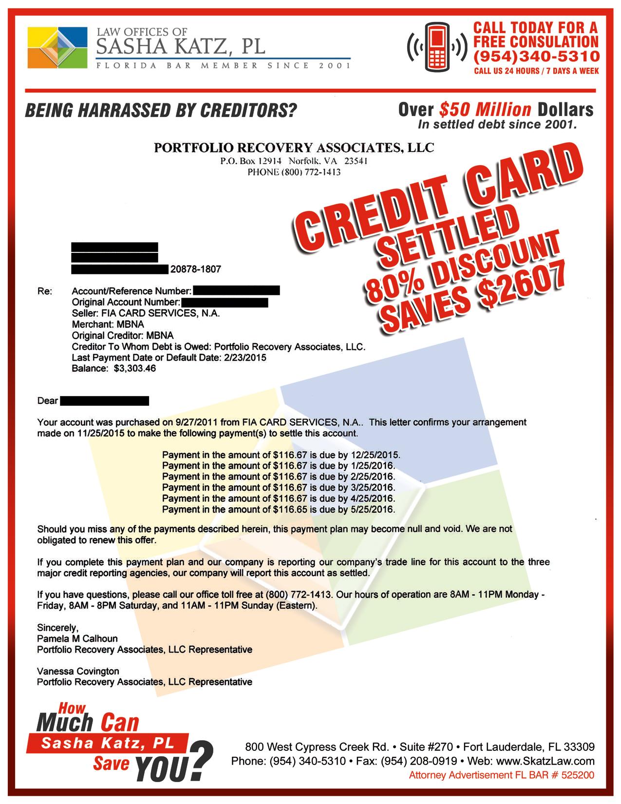 debt settlements skatzlaw